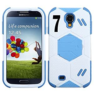 Galaxy S4 Soccer Goalkeeper Hybrid Protective Cover Number: (7) with Stand.