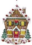 Bucilla Felt Applique Advent Calendar Kit, 18 by 25-Inch, 86585 Nordic Gingerbread House