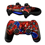 MODFREAKZ Pair of Vinyl Controller Skins – Flying Red Blue for Playstation 4 Review