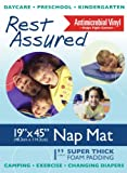 Premium Nap Mat by Marlo Plastics, 19 x 45 in., Rest mat, Childcare Sleep Mat, Made in USA with USA & Imported Components, Each