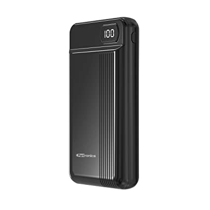 Portronics Indo 20D POR-294 20000mAH Lithium Polymer Power Bank (Black)