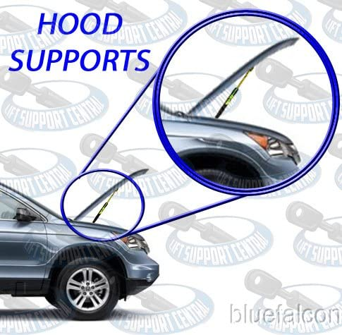 Two Front Hood Gas Charged Lift Supports With 4 OEM Replacement Studs For 2003-2009 Toyota 4Runner WGS-186-2 2003-2009 Lexus GX470 Left and Right Side