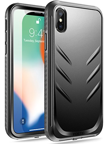 iPhone Xs Rugged Case, iPhone X Rugged Case, Poetic Revolution [360 Degree Protection][Built-in-Screen Protector] Full-Body Rugged Heavy Duty Case for Apple iPhone X (2017)/iPhone Xs (2018) - Black