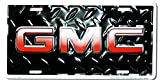 GMC Diamond Embossed background metal auto tag 6 x 12