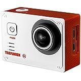Telefunken Camara Deportiva WiFi 4K waterproof con accesorios TLF-AC4K-Roja Blanco
