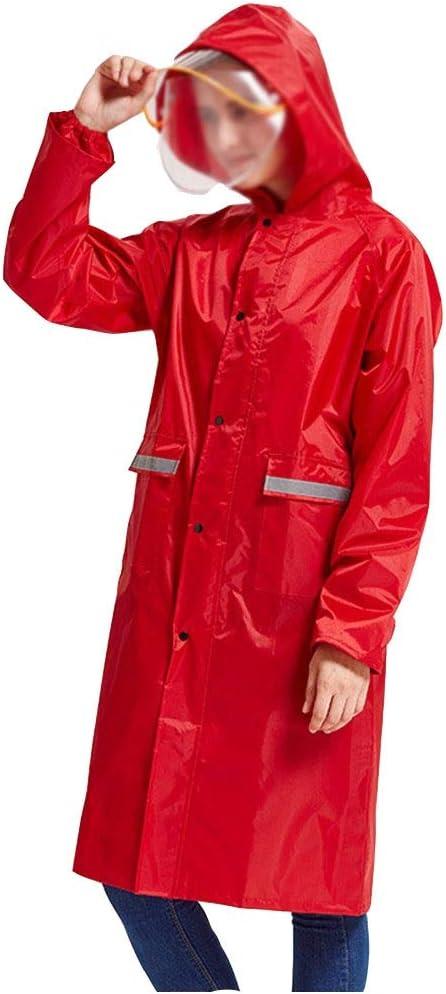Color : Red, Size : M Wuzhengzhijia Impermeabile Imbottito Antipioggia for Uomo a Corpo Lungo Imbottito Impermeabile Lungo Tratto congiunto Antipioggia Antipioggia for Esterno