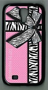 Samsung Galaxy S4 I9500 Case Girly zebra ribbon & bow pink polka dots Samsung galaxy s4 case