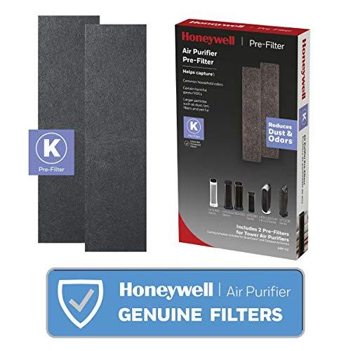 Honeywell HRF-K2 Household Odor & Gas Reducing Pre-filter, 2 Pack, Black