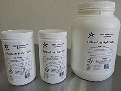Potassium Hydroxide (Caustic Potash) Flakes FCC/ Food Grade 10 Lb Pack (7134) by Packaged by Chemical Technologies International Inc