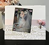 """First Communion catholic religious little girl cross church gift handmade magnetic picture frame holds 5"""" x 7"""" photo 9"""" x 11"""" size"""
