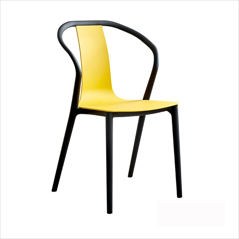 XIAOYAN 家庭用ハイスツールモダンオフィススツールPP素材+鉄アートファッションバースツール古典的な黒緑色の青色の赤い白い黄色 (色 : イエロー いえろ゜) B07F9PF63F イエロー いえろ゜ イエロー いえろ゜