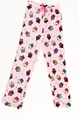 Girls Sleepwear Fleece Pj (45500-10119-4-5 Just Love Plush Pajama Pants for Girls,Cupcake Dot,Girls' 4-5)