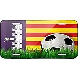 Soccer Team Flag Mallorca region Spain Metal License Plate 6X12 Inch