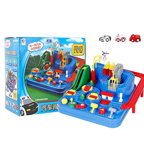 Car Track Toy Interactive Competition Toy Parents and Adventure Racing Toy Macarons Train Set Educational Toys As A Child Gift Learning Play Set