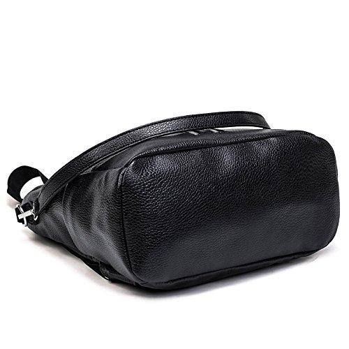 Mefly Rucksack Rucksack Tasche Multifunktions-Display Dual Bulk Weiches Leder