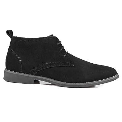 Front - Mocasines de Ante para hombre negro negro, color negro, talla 41 EU: Amazon.es: Zapatos y complementos