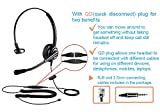 Telephone Headset with RJ9 Jack & 3.5mm Connector