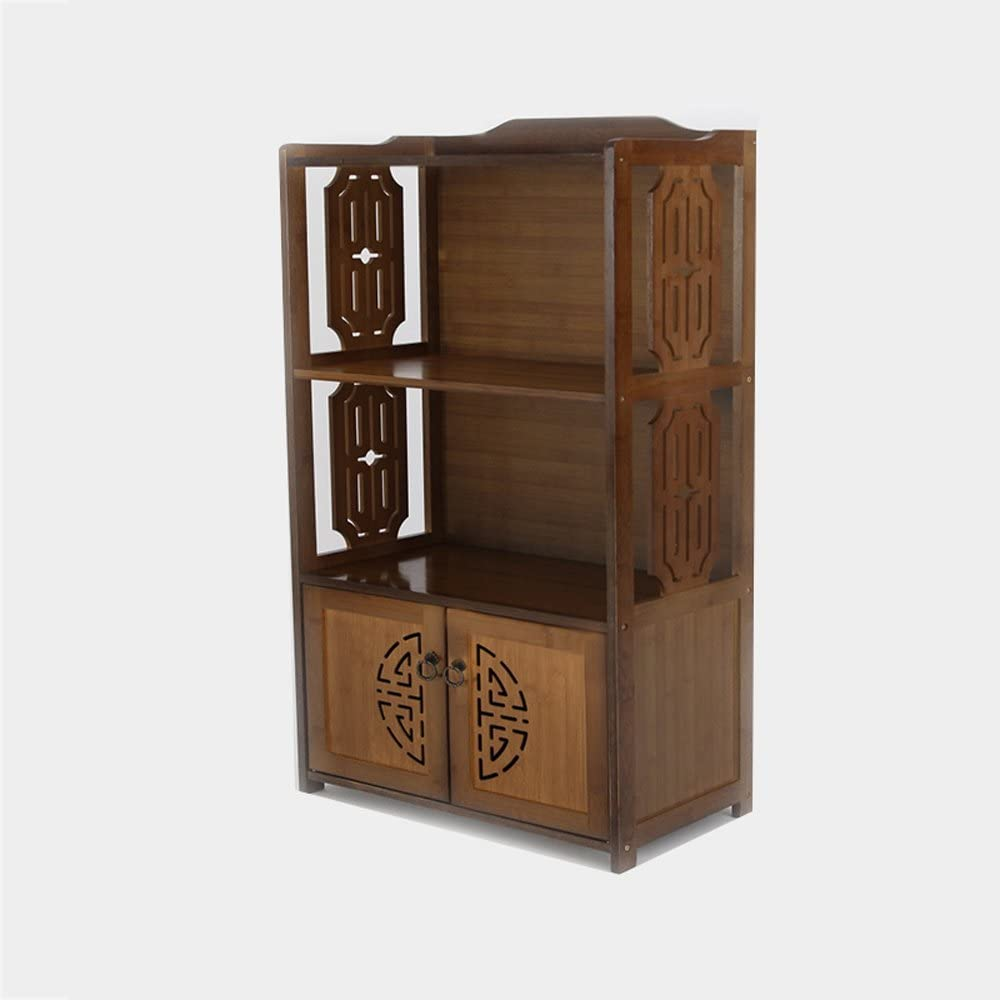 YAN JUNau Magazine Shelves Bamboo Simple with Cabinet Multifunction Environmental Protection Shelf Color : Brown
