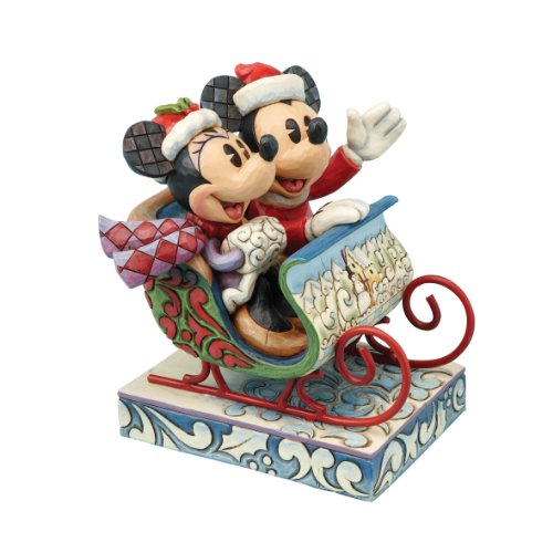 (Disney Traditions Jim Shore Old Fashioned Sleigh Ride Mickey Minnie Mouse)
