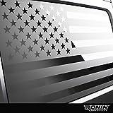 Ronin Factory Jeep American Flag Window Decal Accessory - 2007+ JK & JL - Matte Black Vinyl - Trimming Knife Included (JK & JL (2 Door))