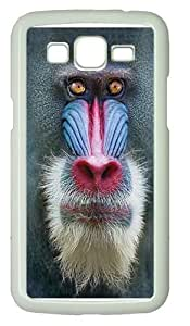 Kids Big Face Mandrill Baboon Custom Samsung Grand 7106/2 Case Cover Polycarbonate White by runtopwell