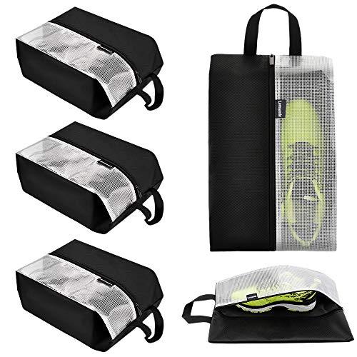 Lermende Travel Shoe Bags Waterproof Nylon Organizer Storage Tote Pouch 5pcs (Waterproof Shoe Bag)