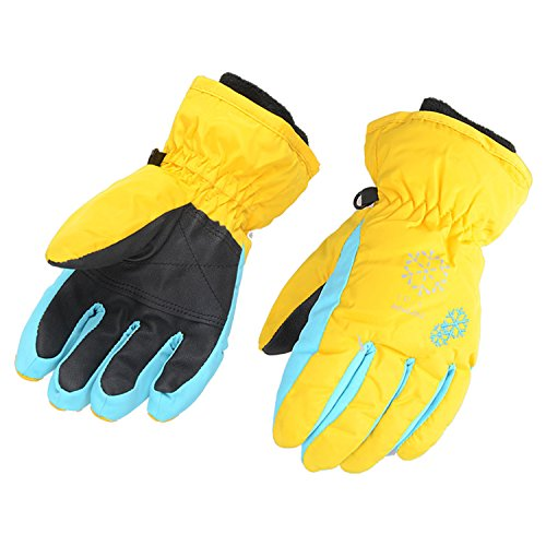 (AMYIPO Kids Winter Snow Ski Gloves Children Snowboard Gloves for Boys Girls (Yellow, S (6-7 Years)))