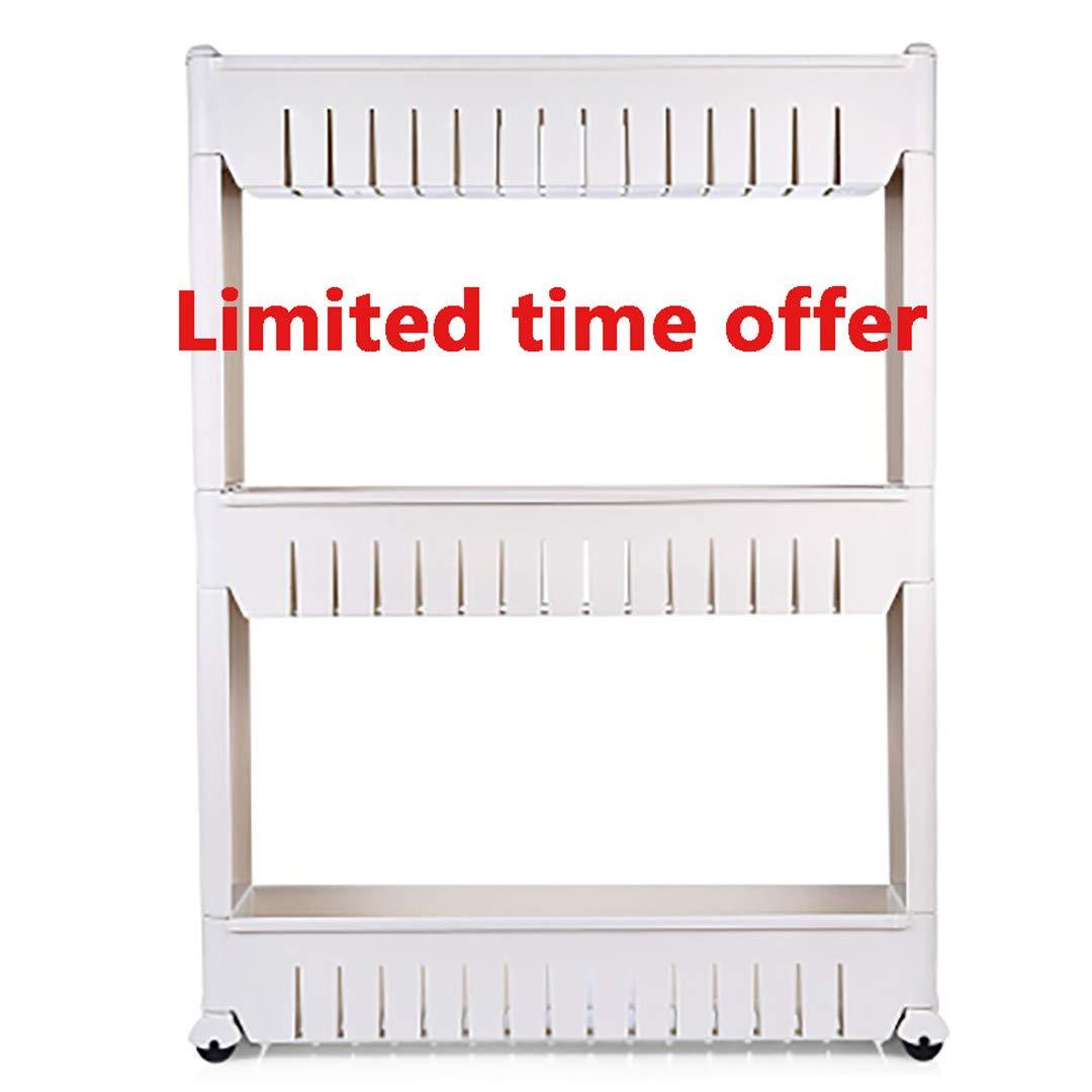 Multipurpose Shelf with Removable Wheels Crack Rack Bathroom Storage Storage Rack Shelf Multi-Layer Refrigerator Side Shelf Limited time Offer
