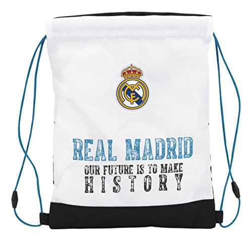 Real Madrid 11754/Sac de Cordes pour Le Gym 34/cm Blanc