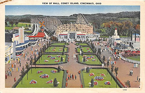 View of Mall, Coney Island Cincinnati, Ohio, OH, USA Postcard Post - Cincinnati Mall Oh