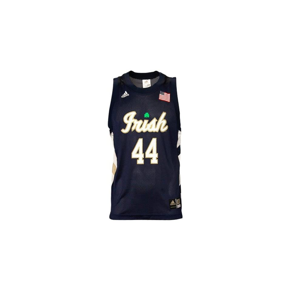 adidas Notre Dame Fighting Irish #44 Navy Blue Replica Basketball Jersey