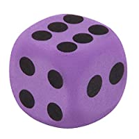 Baby Toy Gift Specialty Giant EVA Purple Foam Playing 3.8cm Dice Block Party Toy Game Prize for Children Early Educational Toys by GorNorriss