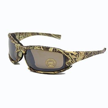 EnzoDate Daisy X7 polarizado ejército gafas de sol, gafas militares 4 lente Kit, hombres