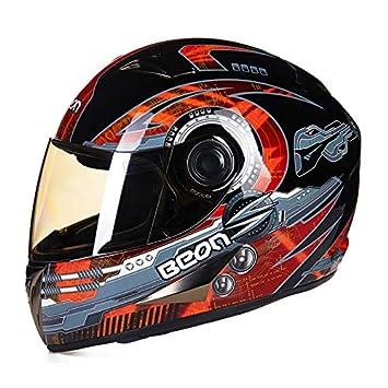 Goney Casco de la Motocicleta, Casco Completo para Adultos Casco de Kart Unisex Luz Segura y Transpirable para Hombres Mujeres DLD-051: Amazon.es: Deportes ...