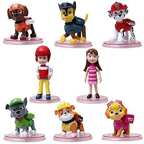 OliaDesign 8 Pcs Tv Cartoon Figures Toys Play Set Plastic Puppy Patrol Doll Action Paw Pup Buddies Figures Toys Anime (Cartoon Figure)