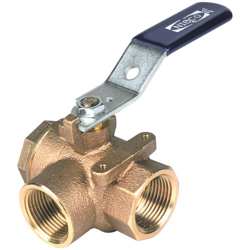 NIBCO T-585-70-W3 Cast Bronze Ball Valve, Two-Piece, Lever Handle, 3/4