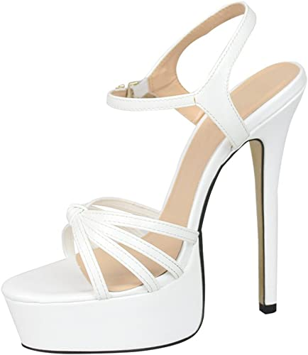 Platform Drag Queen Men/'s High Heels Crossdresser Pumps White Stiletto Big Shoes