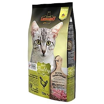 Leonardo - Comida para gatos secos sin granos, 7,5 kg Un alimento saludable para gatos: Amazon.es: Productos para mascotas