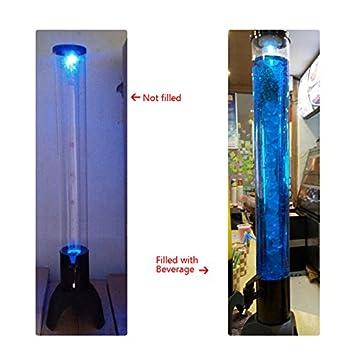 3L luz hasta cerveza Torre dispensador de zumo de frutas con tubo de hielo y grifo: Amazon.es: Hogar