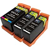 3 (SET + 1 BLACK) Compatible Dell Series 21 Ink Cartridges for Dell All-In-One P513W, P713W, V313, V313W, V513W, V515W, V51, V715W