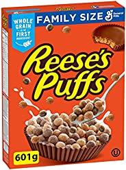 Reese Puffs Chocolate Peanut Butter Cereal Box, 601 Gram