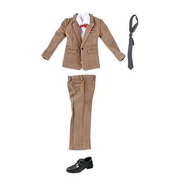 b95f6155 Amazon.es: Sharplace 1/6 Escala Traje Formal de Negocios Caqui y Zapatos  para 12inchs Figuras de Acción Musculina: Juguetes y juegos