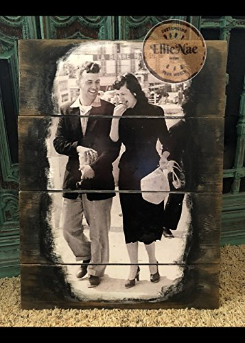 11x14 Inch RUSTIC Pallet Picture From Your Photo Wedding Anniversary Gift 10x13 Inch RUSTIC Pallet Picture From Your Photo --- Pallet Sign, Wood Photo Surface, Wedding Decor, Mother's Day, - Status Usps Order