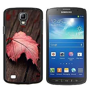 TECHCASE---Cubierta de la caja de protección para la piel dura ** Samsung Galaxy S4 Active i9295 ** --Hoja roja