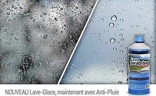 Sisbrill Lavaparabrisas Conc. 1:20 con Repelente Lluvia - Elimina Polvo e Insectos - Sin Chirridos - 1 Litro: Amazon.es: Coche y moto