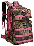 Mens Large 21 Inch Military Style Hunters Camo Pink Tactical Gear Molle Hydration Ready Backpack Bags Review