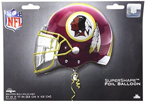 Anagram 26302 NFL Washington Redskins Football Helmet Foil Balloon, 21
