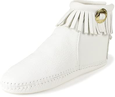 Women's Trimbelle ''White'' Moccasin Bootlet