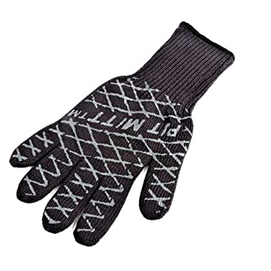 Charcoal Companion Ultimate Barbecue Pit Mitt - For Grill or Oven - Measures 13  Long - CC5102.