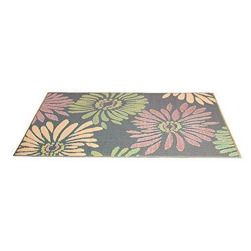 eLuxurySupply Outdoor Rug - Mad Mats | UV Fade Resistant | Waterproof Woven Outdoor Mat | 100% Recycled & Reversible Polypropylene Plastic Wicker| Non-Slip | Beach Deck & Doormat | Multiple Colors
